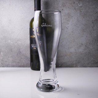 (Single price) Crystal beer mug [MSA] (4 selected from 1) PASABAHCE lead-free glass beer mug beer mug lettering