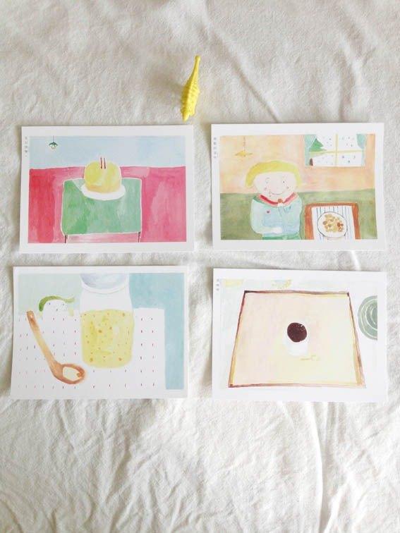 明信片--甜點的滋味(一組4張)