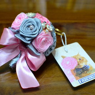 CAmelliaT camellia jewelry bouquet keychain cat * [humorous pink money] * was * sisters small wedding ceremony
