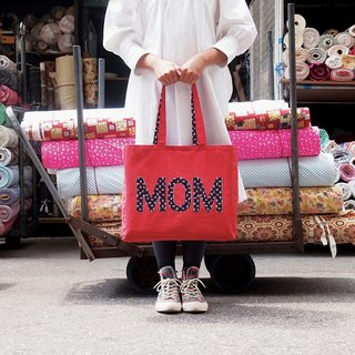 AlphaBAG MOM Customize letter Hand craft Canvas tote bag