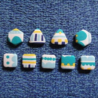 (C) FY _ little cloth button badge HSTDVY77