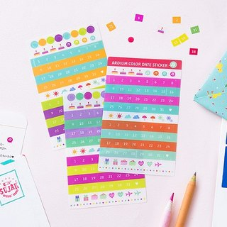 ARDIUM colorful account date stickers group