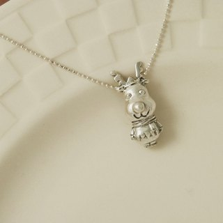 Fancy Moon * warm elk ‧ silver necklace ‧925