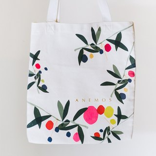 "Flora Series: ""Morning Glory"" Cotton Canvas Bag"