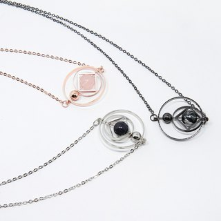 Floating Universe Necklace (The square in circle )