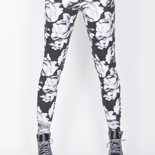 ZIZTAR Black Rose Pants