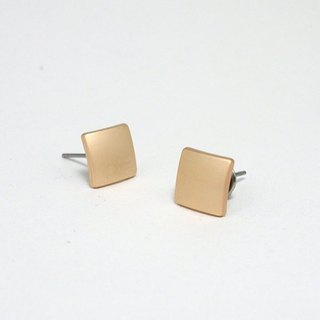 Cirle dot Chocolate Chip Stainless Steel Ear Studs 006