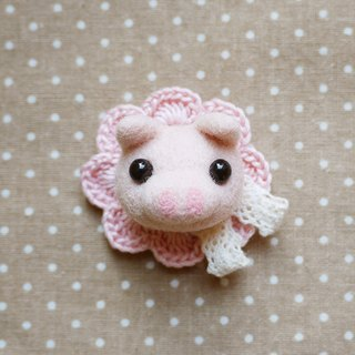 DIY felting Kit – Little Pig Brooch (without tools)