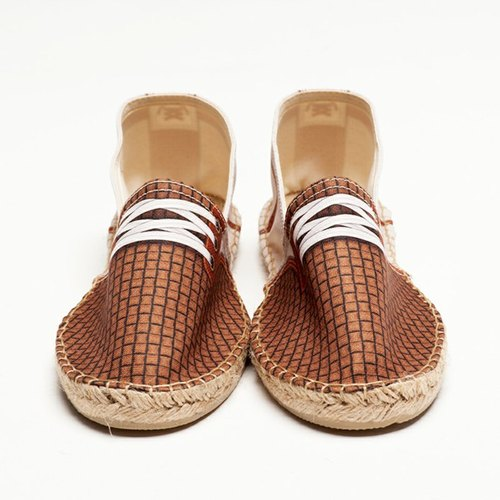 BSD GUMP DOT BEIGE emulation print fashion casual shoes