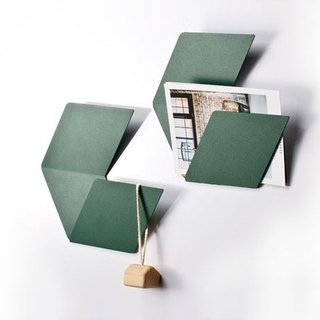 Fold & Plait Large Hexagon - Wall Mount (Green)