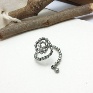 ◎ ancient silver ring plated stainless steel beads can be plastic molding ring