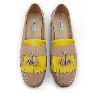 Classic Vintage Moccasin Tassel Loafers M1109 Yellow