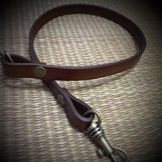 Accessories - leather leather short strap (40 cm)