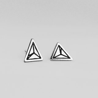 Mosaic Line 05  925Silver Earring pin