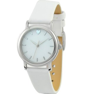 Mother's Day - beautiful ladies watch 12:00 Heart white shell white belt free transport