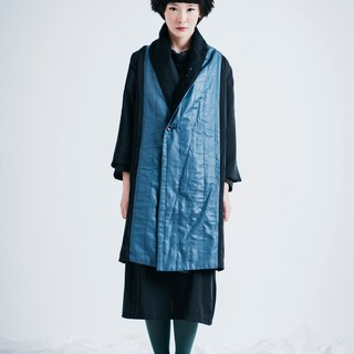 moi non plus deep sea coral coat - can be worn on both sides