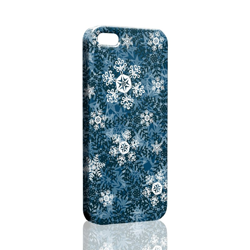 Blue winter snowflake pattern of custom Samsung S5 S6 S7 note4 note5 iPhone 5 5s 6 6s 6 plus 7 7 plus ASUS HTC m9 Sony LG g4 g5 v10 phone shell mobile phone sets phone shell phonecase