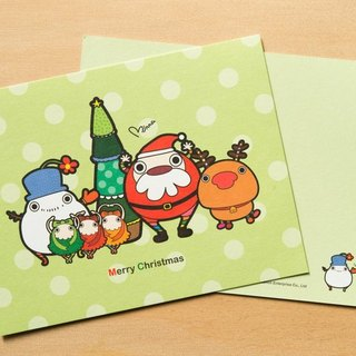 Christmas Elf - round little ● Postcards Christmas cards