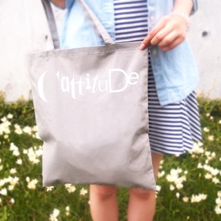 [Cattitude] original design solid color cotton linen burlap bag Type Tote bag text altogether 3