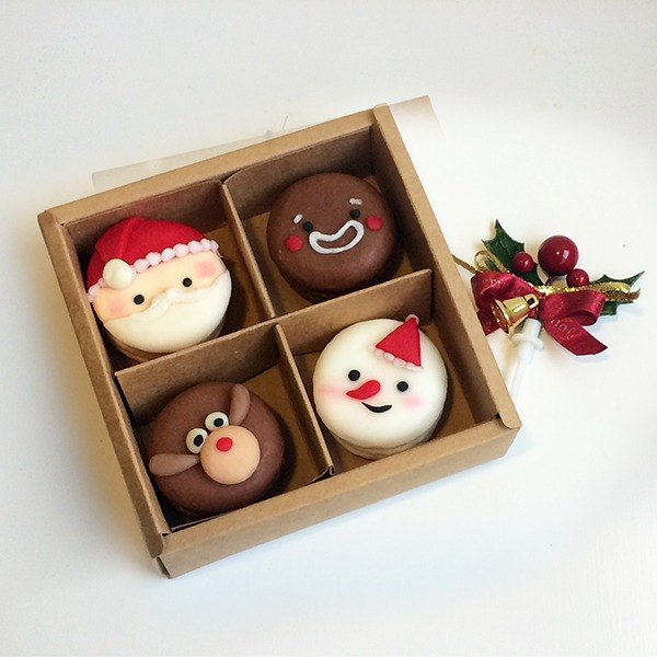 X'mas Christmas Limited Edition - Macarons Four Gift Box #2018PinkoiXmas