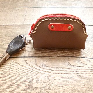 POPO│ latte brown palm lightweight key │ │ pure small leather purse