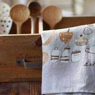 Linen Tea Towel - Bread Yellow