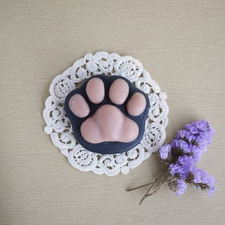 Bamboo Charcoal Cat Paw Soap (For Body) - Lilac+Lily
