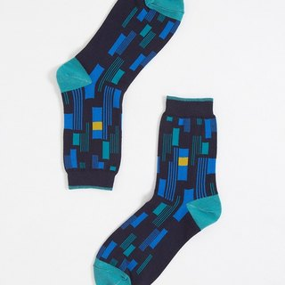 [Blue Monday] OutOfOffice / Line Striped Socks / Blue / Socks