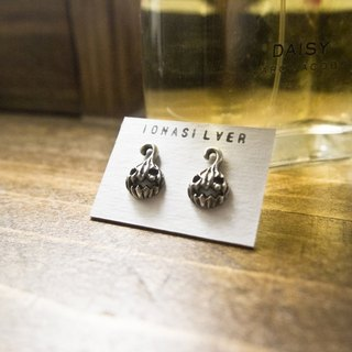 Cute Creepy Pumpkin Head Devil Silver Earrings Studs Gift For Her Lover Friend Date Christmas Birthday The Jack-O-Lantern by IONA SILVER