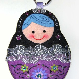 Russian doll card set - Black and Purple