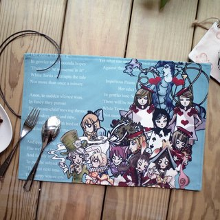 Canvas-sided placemats ▌ ▌ Alice in Wonderland on the full Senate