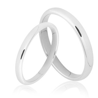 Silver happiness tenderness time classic pair of rings