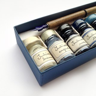 7453/F Cold Color Writing Set- 9 Inks + Nibholder w/nib-Francesco Rubinato