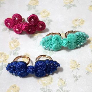 <MamaBabyGirls> China Wind Button Series - China Tang buttons double ring ring 2.0 Ver.