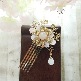 上云阁-Fashion Dongfeng hair comb six dynasty old dream gold and silver two colors optional