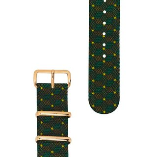 HYPERGRAND military strap - 20mm - LEPRECHAUN Ireland elves (rose gold buckle)