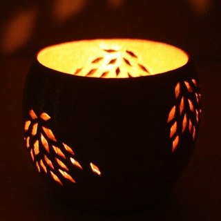 Japanese Pattern candle holder L