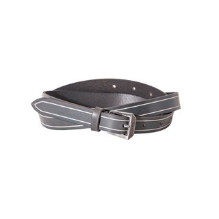 Sour Worms edition fine leather belt - gray