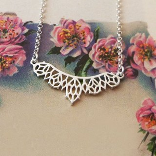 GEORGIA TSAO gem lace Silver Necklace
