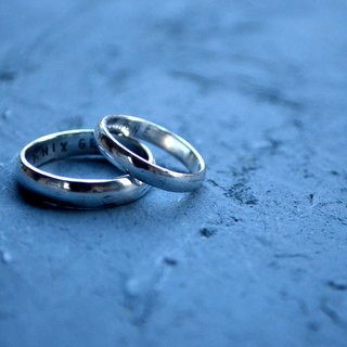 ▽-  CLASSIC Silver -▽999 silver couple ring