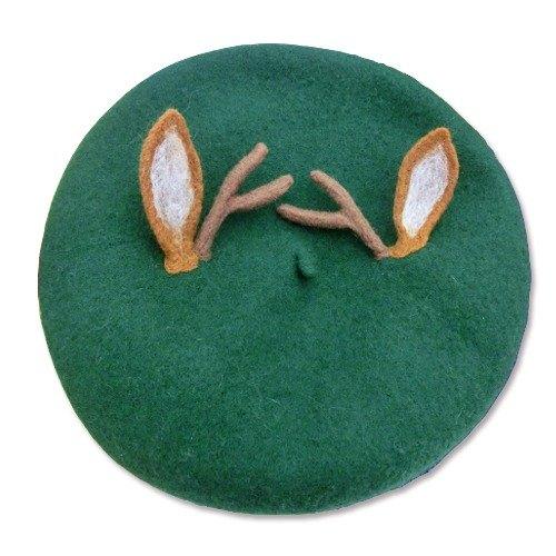 dafbcb2246b71 Christmas antlers green hat painter cap beret - Designer gg-original ...
