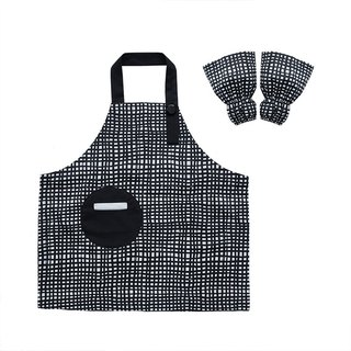 Waterproof toddler apron sleeve set, Painting, Gardening, Baking, Plaid