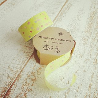 Small flowers illustration of paper tape Laima Masking tape illustrations
