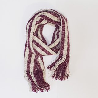 // Galaxy-Red // limited edition hand-woven scarves feel a