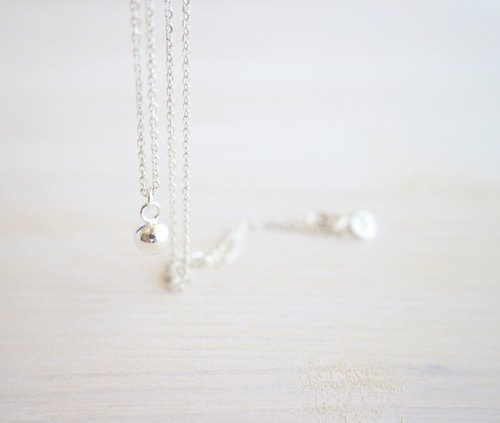 ☆ ball / 925 sterling silver ball necklace birthday gift anniversary