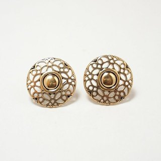 Circle dot stainless steel ear ear ear clip ear clip earrings 128