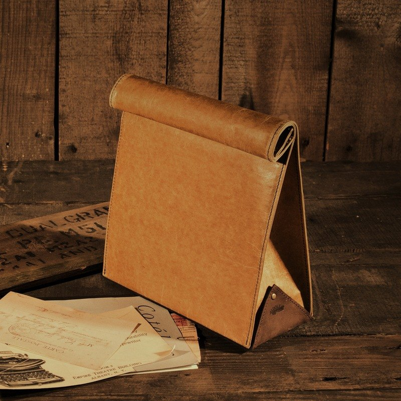 [ADOLE] antique leather cloth wax pattern - retro styling pack lunch bags