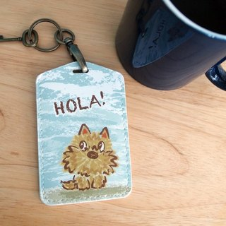 Multifunction card sleeve key ring -Hola! Yorkshire