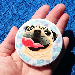 Pug Pocket Mirror-Look at the sky