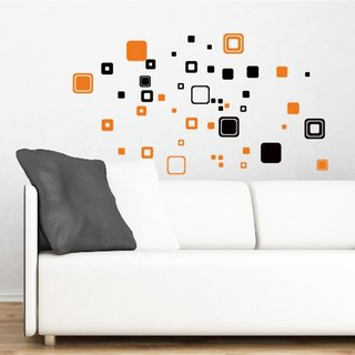 Smart Design wall stickers creative Seamless rectangle ◆ Black (2)